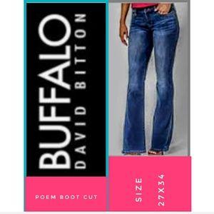 Buffalo Jeans Size 27x34 Poem Boot Cut